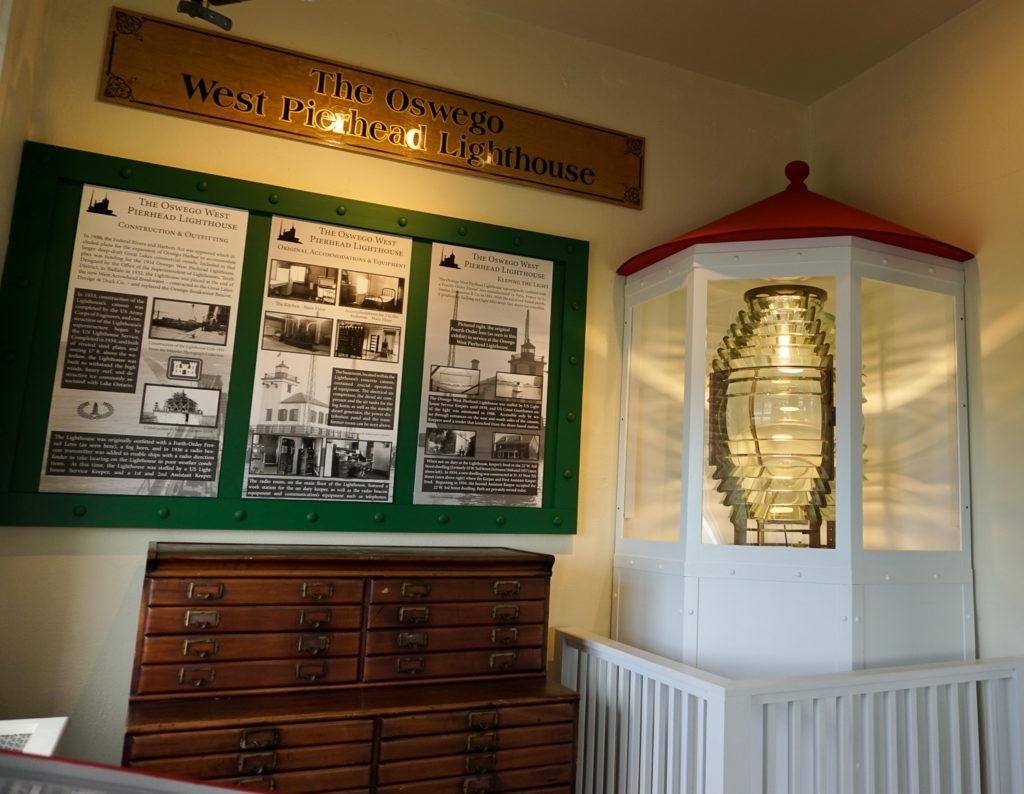 Original Fourth Order Fresnel Lens in The H Lee White Marine Museum in Oswego, New York