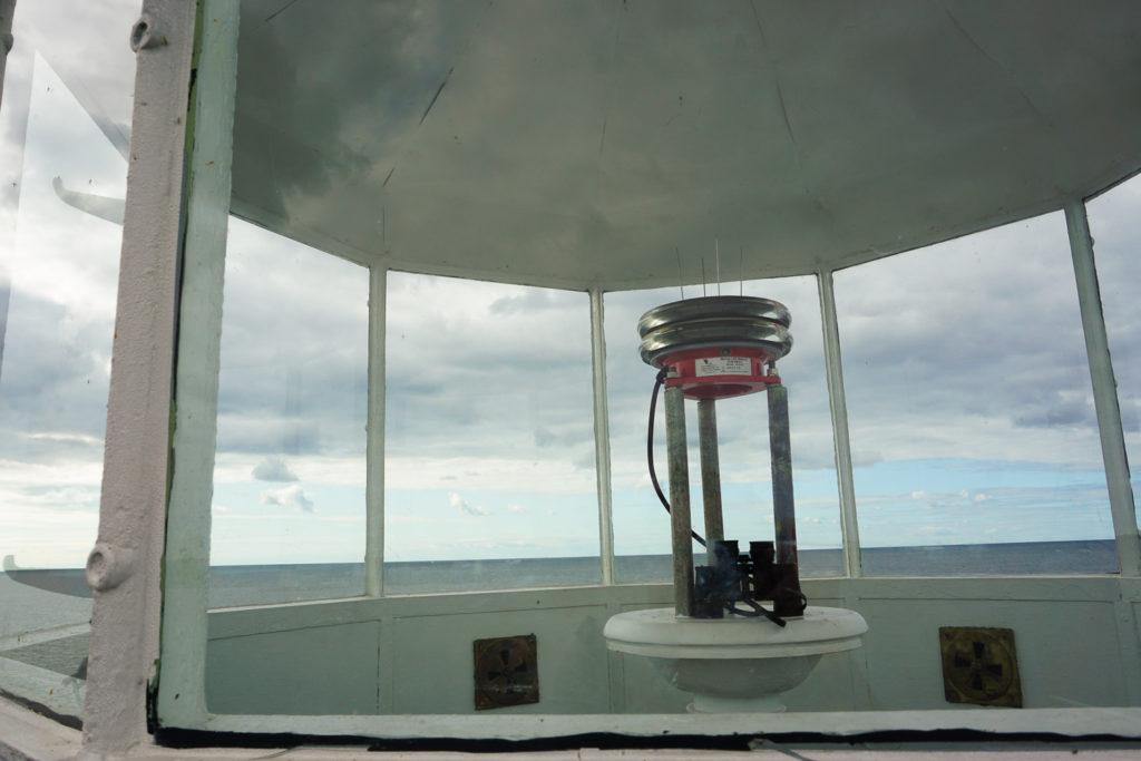 Current Beacon at the Oswego West Pierhead Lighthouse on Lake Ontario
