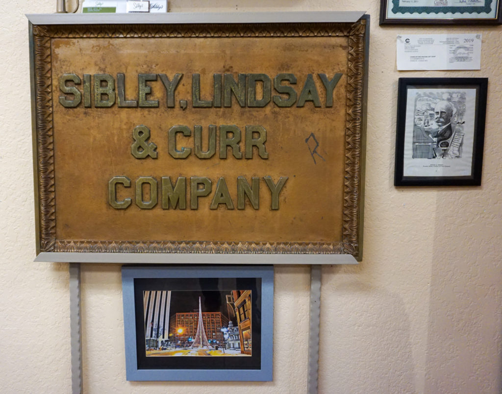 Original Sibley, Lindsay and Curr Sign in Sibley's West in Phoenix, Arizona