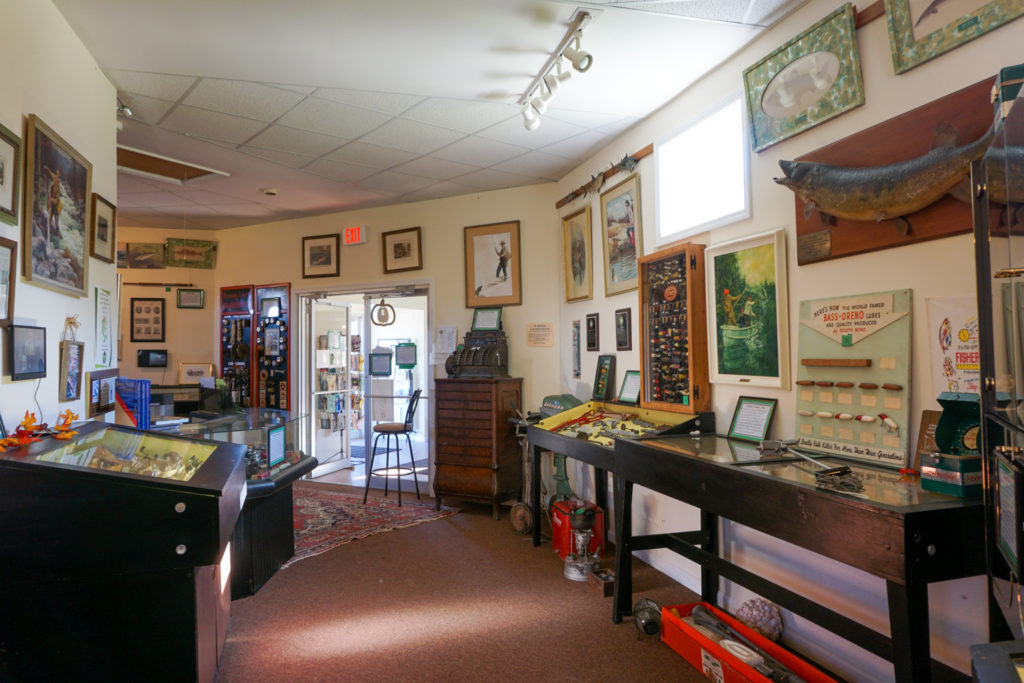Inside the Salmon River International Sports Fishing Museum and Visitor Center in Altmar