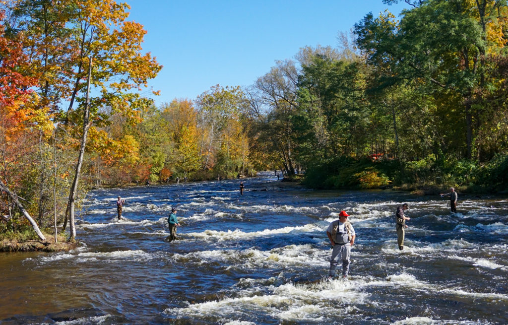 Fishing On the Salmon River in Pulaski, New York