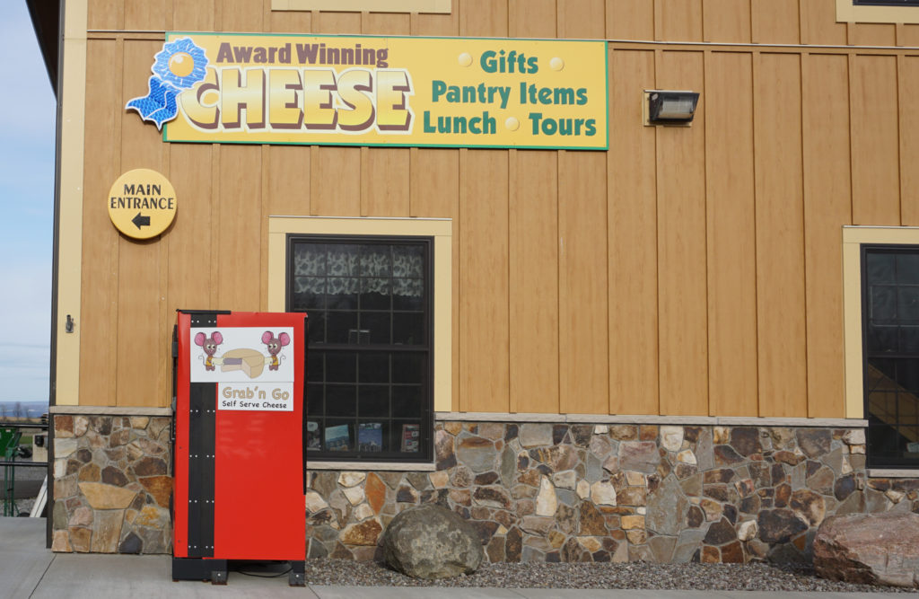 Cheese Vending Machine at East Hill Creamery in Perry, New York, Wyoming County