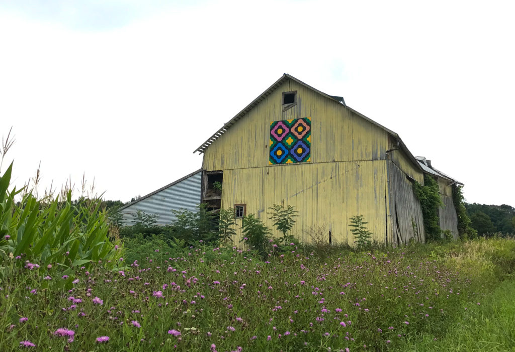 Barn quilt on Conlon Road in Leroy