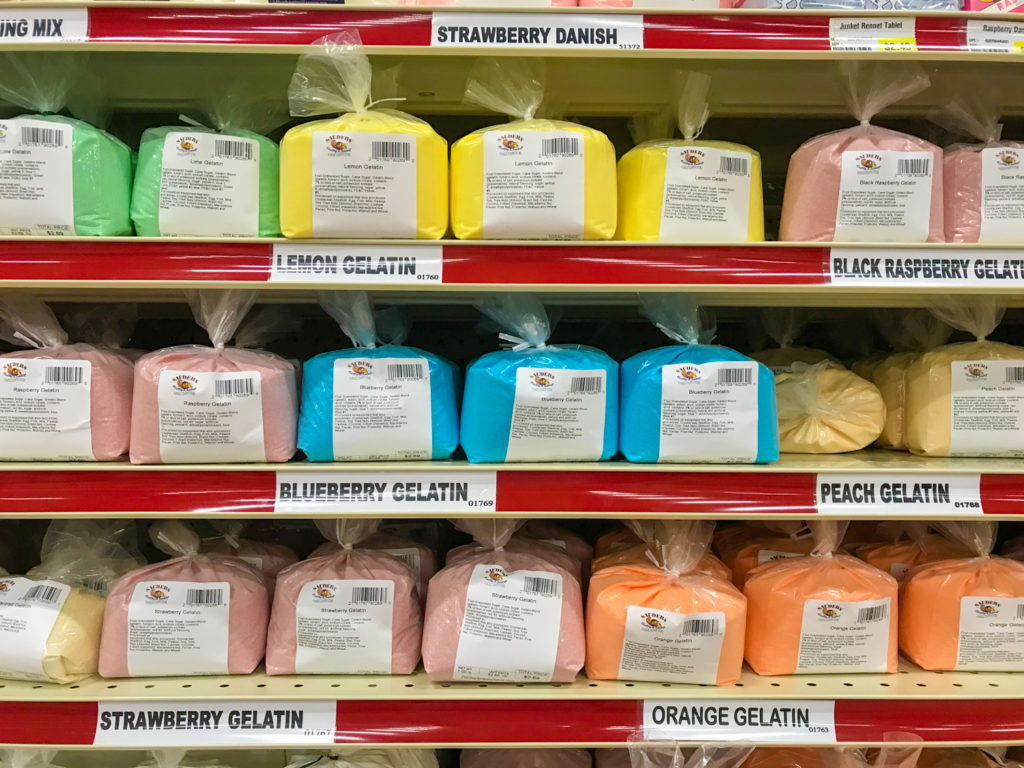 Bulk Gelatin at Sauder's In Seneca Falls