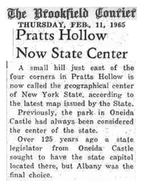 Brookfield Courier 1965 Pratt's Hollow Article