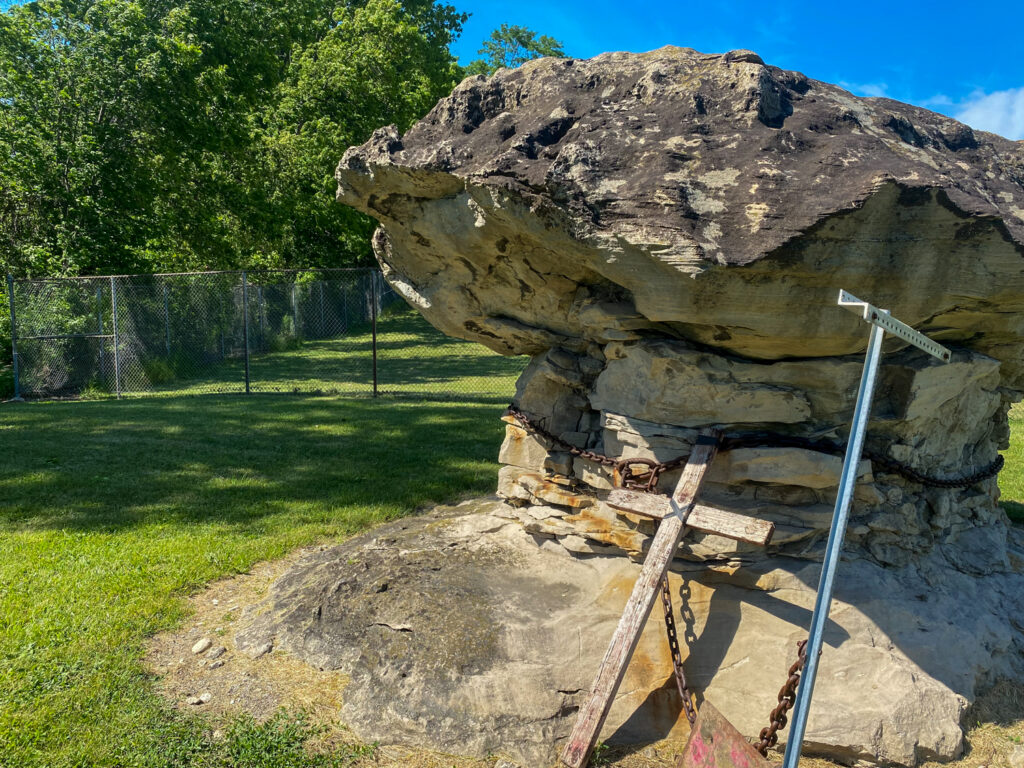 Closeup of Devil's Rock in Stafford