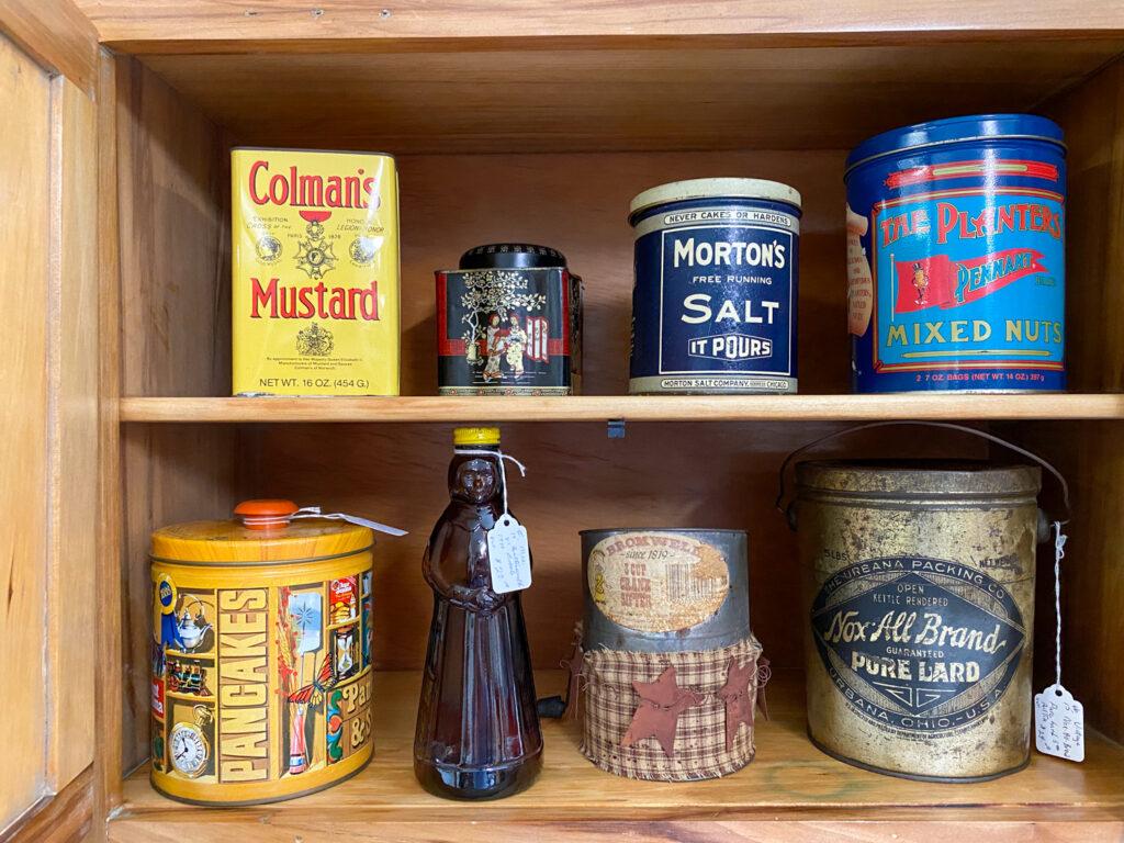 Shelf of Antiques in Bouckville, New York