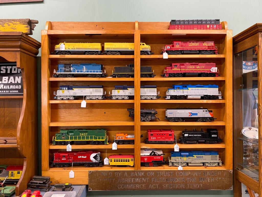 Train Display in Bouckville Shop